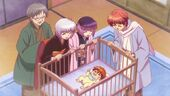 Baby Rinne and his entire family
