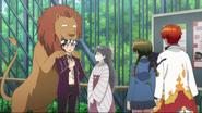 Tsubasa and a lion