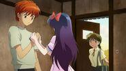 Sakura sees Rinne with Ageha