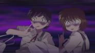 Miho and Rika scared of Yoko