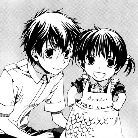 Young Shouri & Yuuri in the manga.