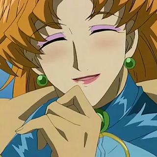 Josak dressed as a woman.