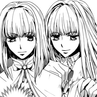 Yelshi and Saralegui in the manga.