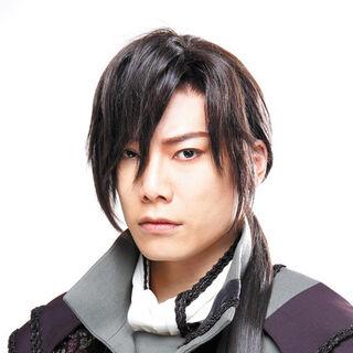 Kentarō Kanesaki as Gwendal in the musical.