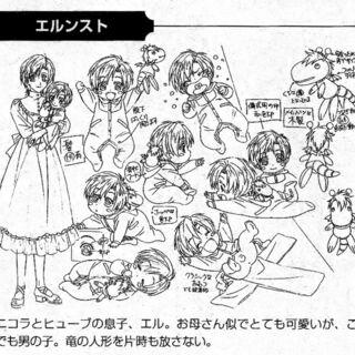 Character design stating Eru is a boy.
