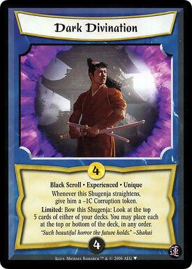 Dark Divination Exp-card