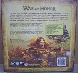 War of Honor back