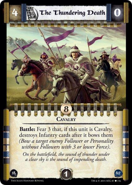 Battlefield Challenge L5R CCG Thunderous Acclaim ThA