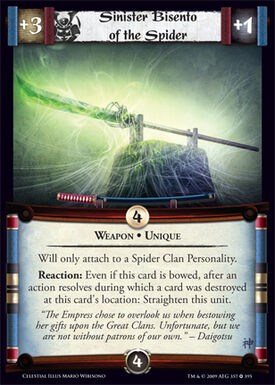Sinister Bisento of the Spider-card