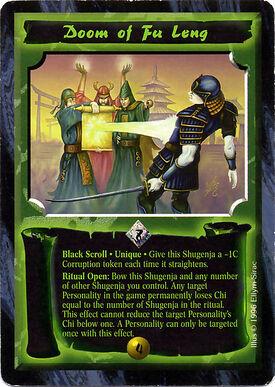 Doom of Fu Leng-card