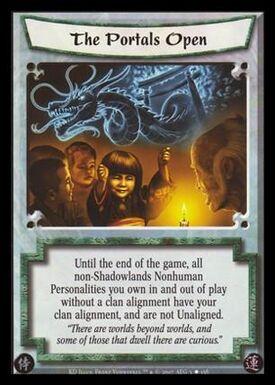 The Portals Open-card
