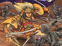 Kenji fighting assassins