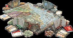 Battle for Rokugan board map