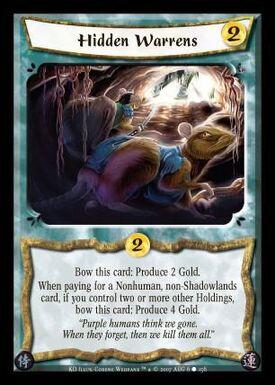 Hidden Warrens-card