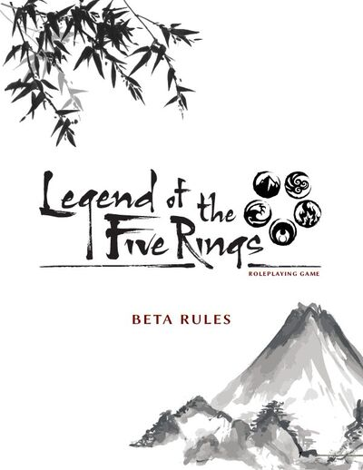 Legend of the Five Rings Roleplaying Game (Beta) cover