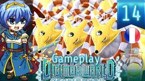 Let's Play FR Digimon World Next Order - Gameplay PS4 - Reyson vs Birdramon, Kyubimon & Meramon 14