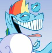 Hahaha rainbow dash icon by monstrgod-d4jvkk7