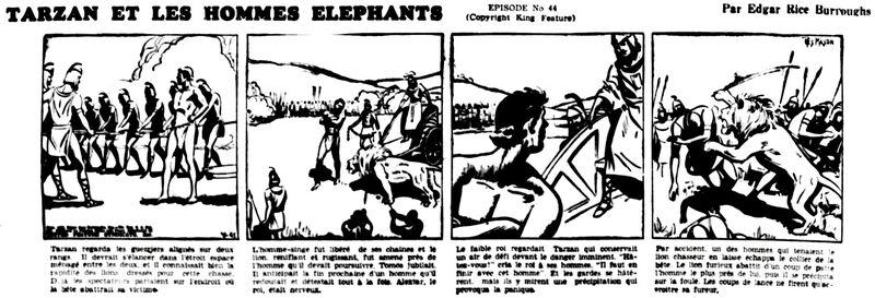 Tarzan Y hommes éléph nouvelliste 1940-02-17-10