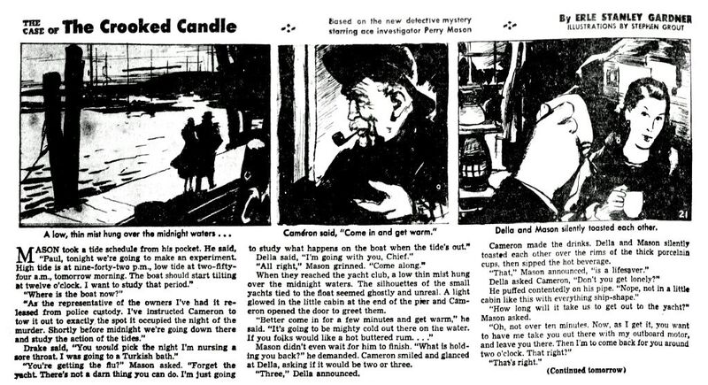 Perry Mason - Crooked Candle 21 (Austin American Statesman 19440920)