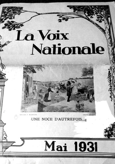Voix nationale mai 1931
