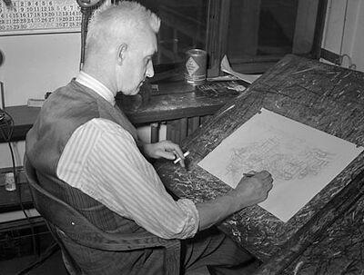 Jimmy Frise by Raymond Alan Munro 1943