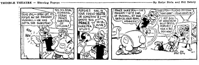 Popeye 1957 daily