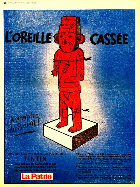 Tintin oreille patrie