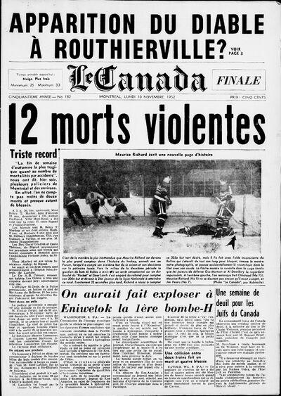 Canada 10-11-1952 couv