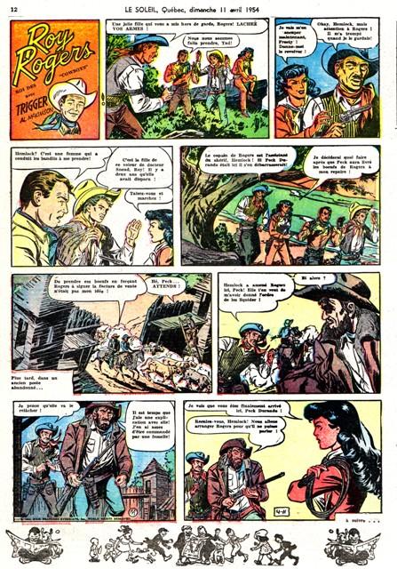 Roy Rogers soleil 11-4-1954