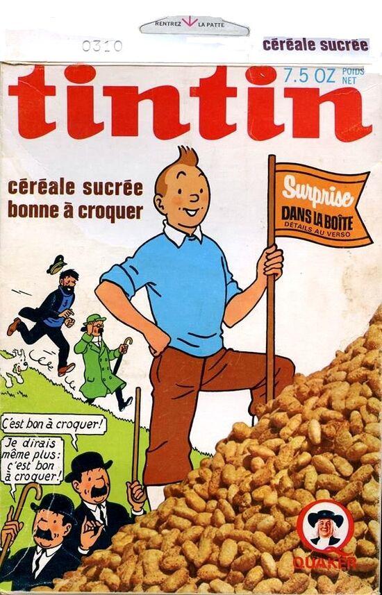 Tintin boite céréale