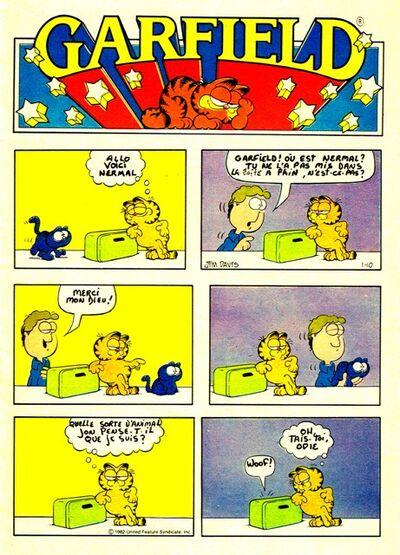Garfield le petit lundi wikia la bd de journal au - Voix de garfield ...