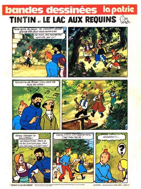 Tintin lac requins la patrie