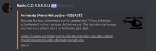 Message du corbeau