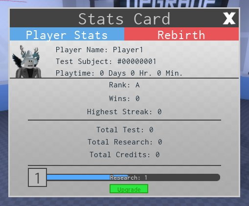 Stats Card | Lab Experiment - Roblox Wiki | FANDOM powered by Wikia