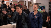 The Bionic Army can´t ressurect Adam Gold Fish Because They Amost Be Arrested by Krane Crimes in The Bionic War (Lab Rats 3x20 Bionic Houseparty)