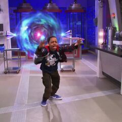 Leo getting sucked into the wormhole of the proton fuser
