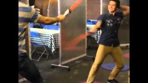 Behind the Scenes Billy Unger vs Spencer Boldman (Lightsaber Duel)