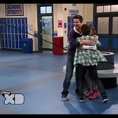 Adam, Bree and Chase hugging