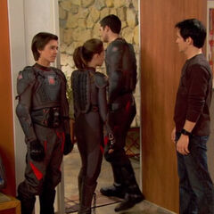 Adam, Bree and Chase leaving the house