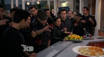 A Group Of Bionic Soldiers And Adam get Some snacks (Lab Rats 3x20 Bionic Houseparty)