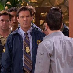 Agents at Donald's door