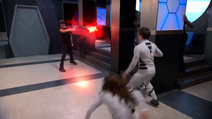 Sebastian uses energy projection against bree