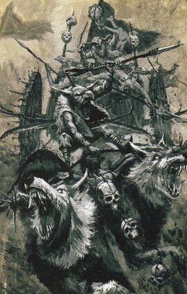 Carro de lobos Goblins dibujo