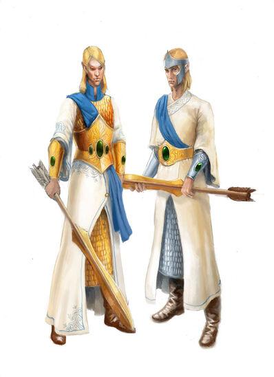 Dotación lanzavirotes Altos Elfos por Gergely Fejervary Warhammer Mark of Chaos