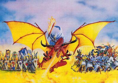 Ejército de Altos Elfos por Dave Gallagher Comandante Dragón Lanceros Yelmos Plateados