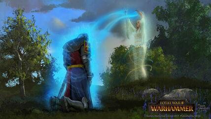 Bendición de la Dama Bretonia por Milek Jakubiec Warhammer Total War