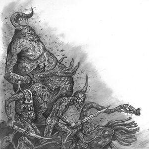 Demonios de Nurgle Realm of Chaos por Tony Ackland