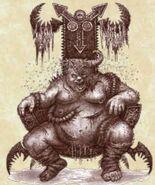 Mago sectario de Nurgle por Pat Loboyko