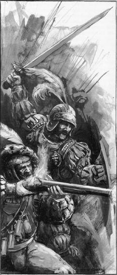 Tropas espadachines arcabuceros