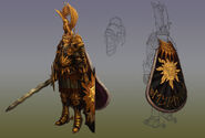 Caballero del Sol Llameante Epic Warhammer Online por Michael Phillippi